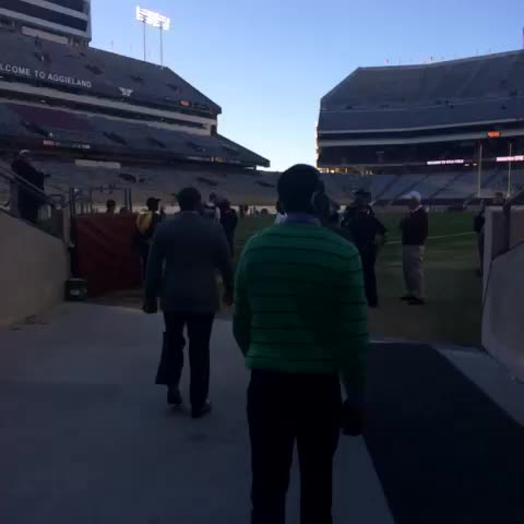 The Tigers have arrived at Kyle Field! #LSU - LSU Footballs post on Vine