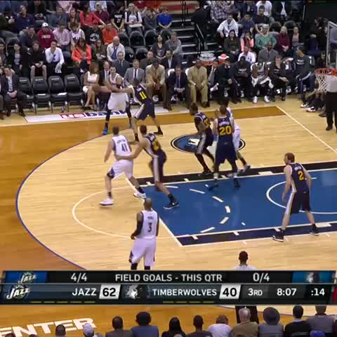 Vine by Jeremiah Jensen - How many 7-1 centers in the NBA can do this? #UTAatMIN #rudygobert