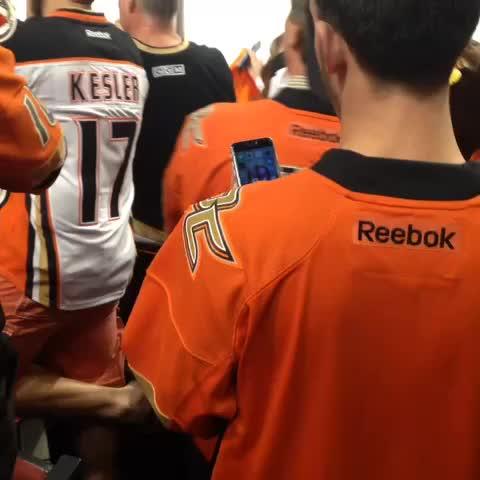 Vine by Anaheim Ducks - Warmups are better with your own fans around. #LetsGoDucks #PaintItOrange