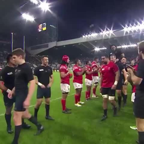 Get 100 caps and you get carried off by your mates. Class. #NZLvTGA - Vine by WORLD RUGBY - Get 100 caps and you get carried off by your mates. Class. #NZLvTGA