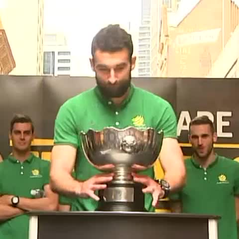 We are the champions: Mile Jedinak lifts the Asian Cup. - Vine by ABC News - We are the champions: Mile Jedinak lifts the Asian Cup.