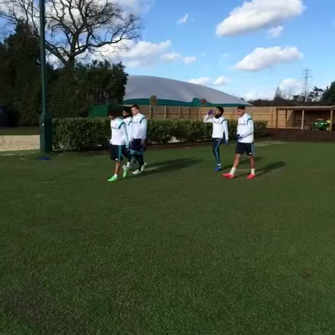 Vine by Chelsea FC - Out go the #Chelsea players for training... #CFC