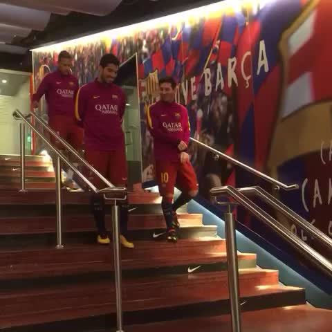 Vine by FC Barcelona - Messi, Suárez and Neymar are coming! #VineFCB #fcblive