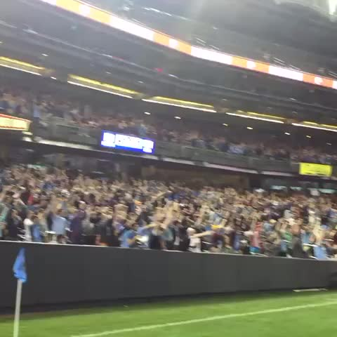 Vine by New York City FC - #NYCFC equalizer reaction