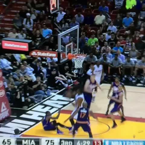 Vine by Anthony Slater - Wrestling match in Miami!!! Hassan Whiteside vs Alex Len