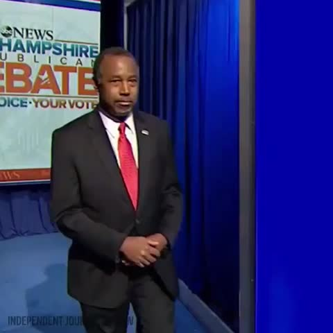 Vine by Independent Journal Review - Dr Carsons debate entrance #GOPDebate