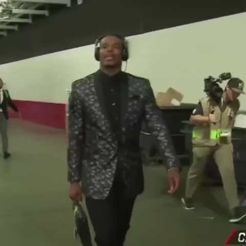 Vine by Carolina Panthers - #CAMVP is in the building! #SB50