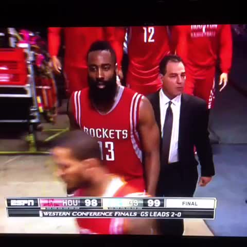 Vine by Inside The NBA - Yeah, James Harden is not happy.