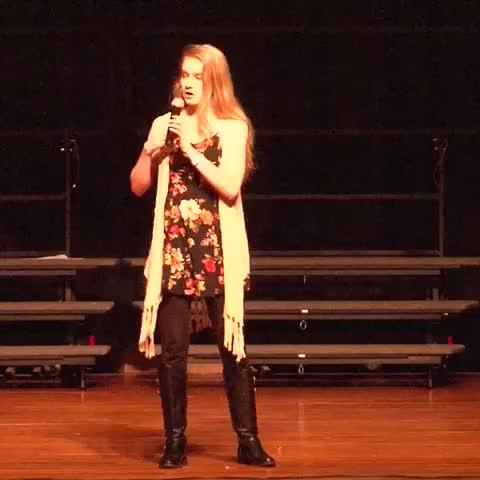 Vine by Anastasia Richardson - Performing I Am Beautiful on the 20/20 tour #stopbullying #makeadifference
