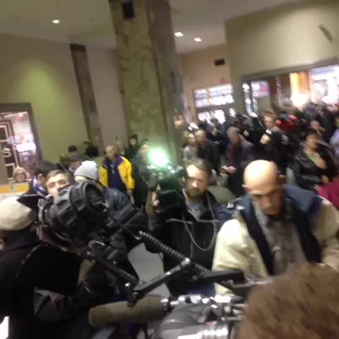 This is what Ghomeshi will see when he steps out of the elevator. Media galore @citynews - Amanda Fergusons post on Vine