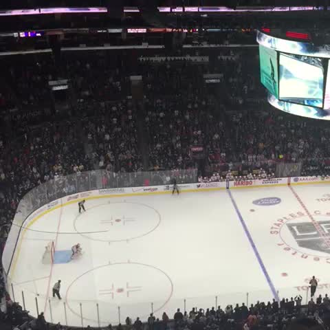 Vine by PumperNicholl - Anze Kopitars game-winning goal in the shootout. ...no, really! The Kings won a shootout game! I swear!