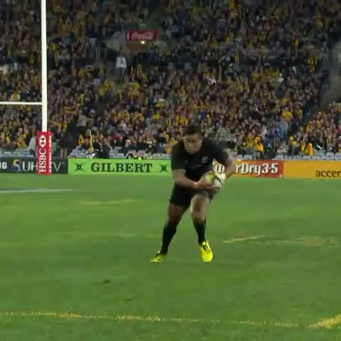 """Watch WORLD RUGBY's Vine """"BOOMFA: Julian Savea takes a big hit from ..."""