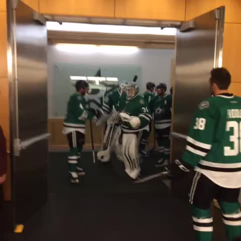 Vine by Dallas Stars - Time for warmups! #PITvsDAL #NHLFaceOff