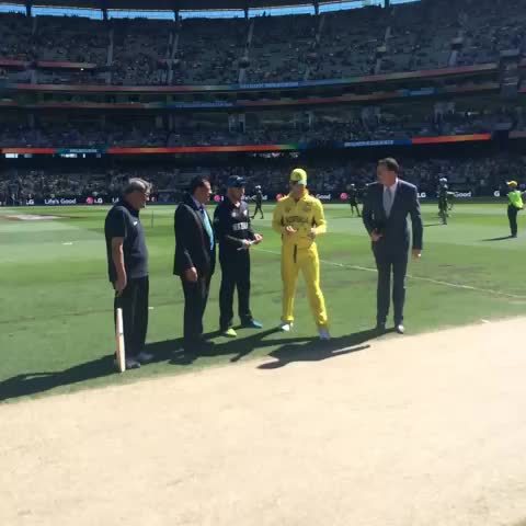 Vine by BLACKCAPS - The BLACKCAPS have won the toss and will bat first in the CWC Final! #nzvaus #final ^CE