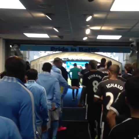 Vine by Watford FC - MATCHDAY: The teams are out & #watfordfc v #mcfc is moments away.