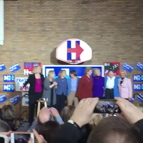 Vine by John Buysse - Sometimes @HillaryClinton and her badass lady friends just wanna dance. ????????????????