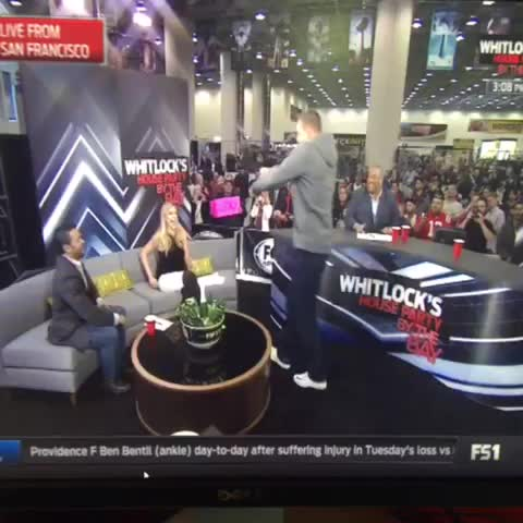 Vine by Tom Leyden - Gronk giving out a lap dance on FS1