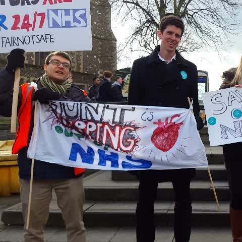 Vine by Watford Herts News - SAVE OUR NHS _ UK Junior Doctors chant, government want New Contracts for nurses to work more hours. BMA 2016