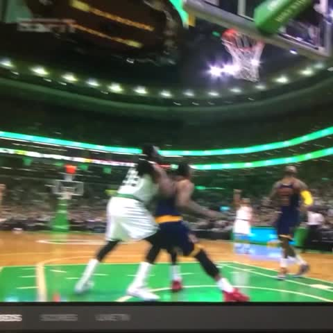 Vine by Rob Perez - J.R. Smith ejected for this spinning backhand on Jae Crowder, Crowder helped pff floor with leg injury.