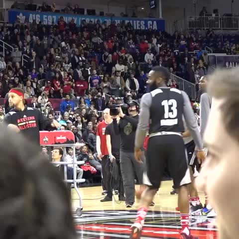 Vine by OKC THUNDER - RUSS FROM HALFCOURT @  All-Star Saturday practice!