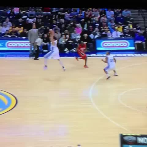 Vine by TheSEShepherd - Gallo with the half court shot! #Nuggets #NuggetsNation