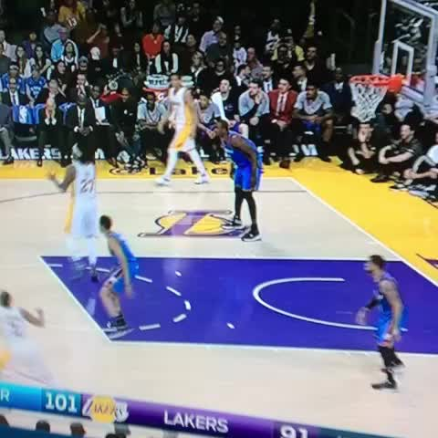Vine by Anthony Slater - Serge Ibaka with the monster block and finger wag