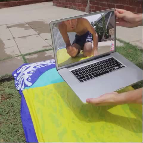 Vine by Zach King - Slip and slide = teleporting