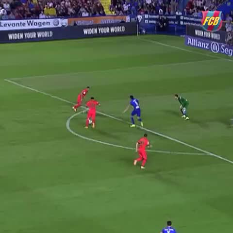 Vine by FC Barcelona - Messi scoring against Levante #goal #Messi #VineFCB