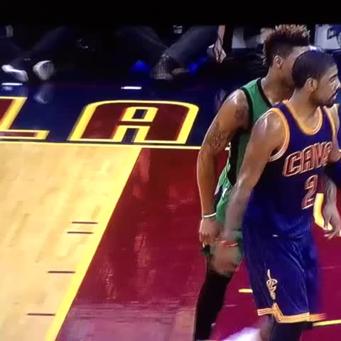 Vine by LeBron James ✅ - Kyrie Irving & Tristan Thompson with the WWE tag team defense! #Cavs! 💪