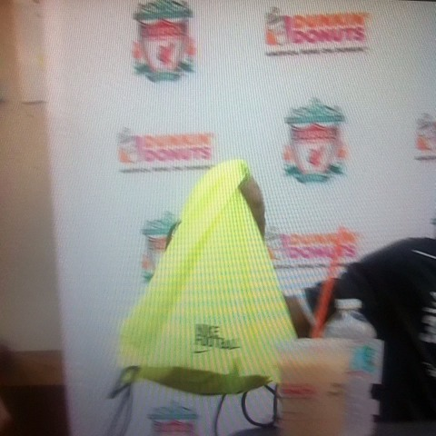 Liverpool FCs post on Vine - Jordon Ibe accidentally knocks a drink over @dunkindonuts and tries to pretend it wasnt him. Check out the look on his face! - Liverpool FCs post on Vine
